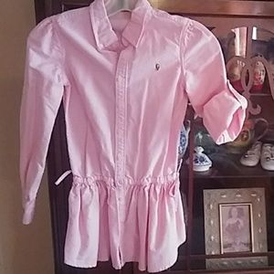 Girls pink Polo size 8